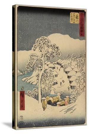 No.38 Yamanaka Village in Fujikawa, July 1855-Utagawa Hiroshige-Stretched Canvas Print