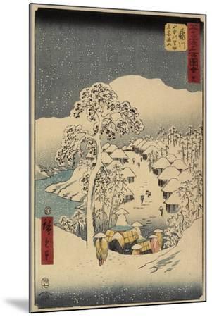 No.38 Yamanaka Village in Fujikawa, July 1855-Utagawa Hiroshige-Mounted Giclee Print