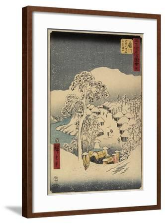 No.38 Yamanaka Village in Fujikawa, July 1855-Utagawa Hiroshige-Framed Giclee Print