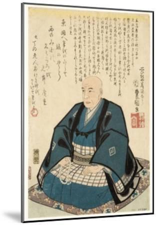Memorial Portrait of Utagawa Hiroshige, 1858-Utagawa Kunisada-Mounted Giclee Print