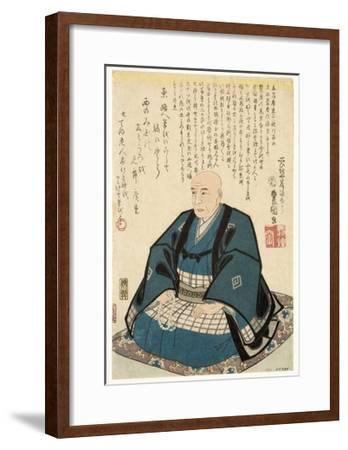 Memorial Portrait of Utagawa Hiroshige, 1858-Utagawa Kunisada-Framed Giclee Print