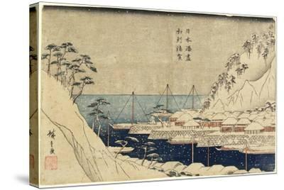 Lined Pine Trees at Uraga Port, C. 1840-1843-Utagawa Hiroshige-Stretched Canvas Print