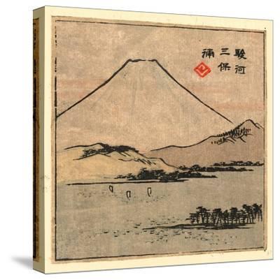 Suruga Miho No Ura-Utagawa Hiroshige-Stretched Canvas Print