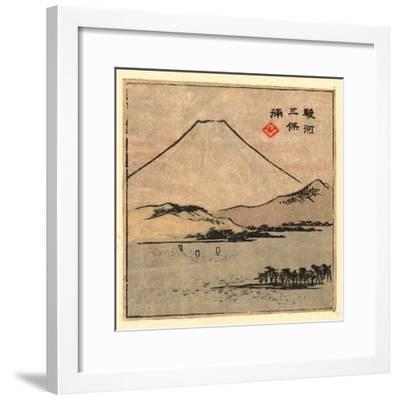 Suruga Miho No Ura-Utagawa Hiroshige-Framed Giclee Print