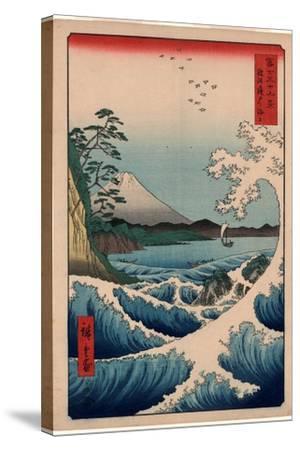 Suruga Satta No Kaijo-Utagawa Hiroshige-Stretched Canvas Print