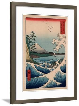 Suruga Satta No Kaijo-Utagawa Hiroshige-Framed Giclee Print