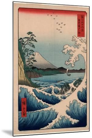 Suruga Satta No Kaijo-Utagawa Hiroshige-Mounted Giclee Print