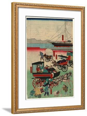 Atarashii Norimono-Utagawa Kuniteru-Framed Giclee Print