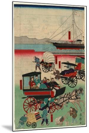 Atarashii Norimono-Utagawa Kuniteru-Mounted Giclee Print