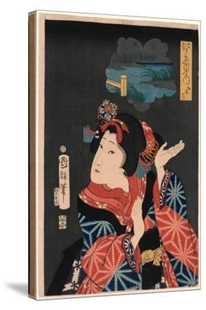 Oshichi the Young Maiden Oshichi. Utagawa-Utagawa Kuniteru-Stretched Canvas Print