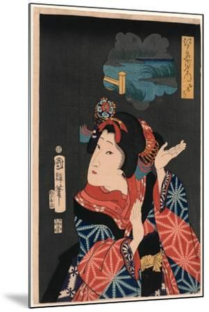 Oshichi the Young Maiden Oshichi. Utagawa-Utagawa Kuniteru-Mounted Giclee Print