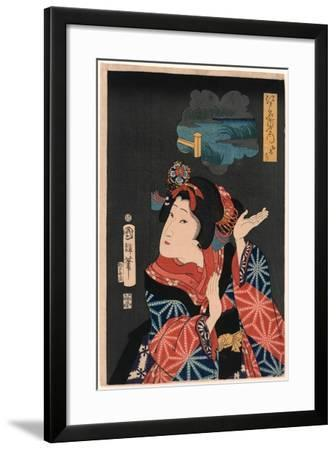 Oshichi the Young Maiden Oshichi. Utagawa-Utagawa Kuniteru-Framed Giclee Print
