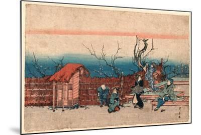 Kameido Umeyashiki-Utagawa Kunitora-Mounted Giclee Print