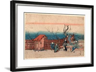 Kameido Umeyashiki-Utagawa Kunitora-Framed Giclee Print