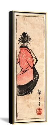 Ushiro Muki Oiran Zu-Utagawa Hiroshige-Framed Stretched Canvas Print