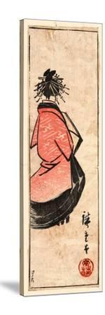 Ushiro Muki Oiran Zu-Utagawa Hiroshige-Stretched Canvas Print