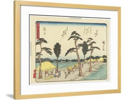 Fukuroi, 1837-1844-Utagawa Hiroshige-Framed Giclee Print