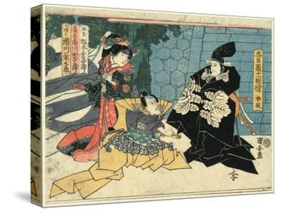 Shodan-Utagawa Kuniyasu-Stretched Canvas Print