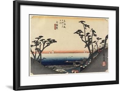 View of Shiomi Slope, Shirasuga, C. 1833-Utagawa Hiroshige-Framed Giclee Print