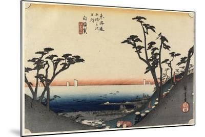 View of Shiomi Slope, Shirasuga, C. 1833-Utagawa Hiroshige-Mounted Giclee Print