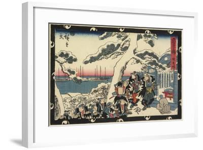 The Place of Offering Incense, 1843-1847-Utagawa Hiroshige-Framed Giclee Print