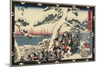 The Place of Offering Incense, 1843-1847-Utagawa Hiroshige-Mounted Giclee Print
