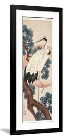 Crane in Pine Tree at Sunrise, 1850-55-Utagawa Hiroshige-Framed Giclee Print