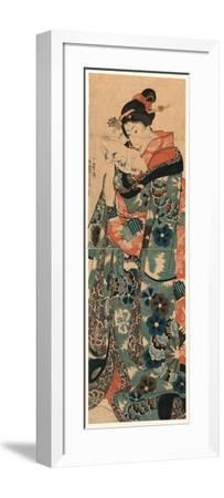 Fumi Yomu Musume-Utagawa Kuniyoshi-Framed Giclee Print