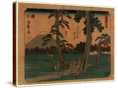 Yoshiwara-Utagawa Hiroshige-Stretched Canvas Print