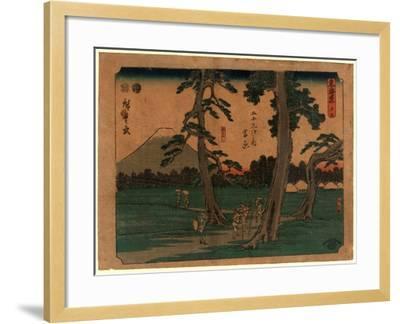 Yoshiwara-Utagawa Hiroshige-Framed Giclee Print