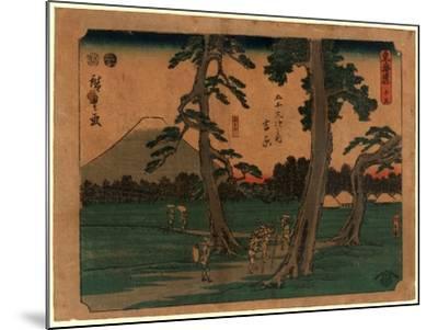 Yoshiwara-Utagawa Hiroshige-Mounted Giclee Print