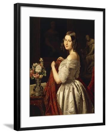 Young Woman at Her Toilette, 1840-Waldmuller Ferdinand Georg-Framed Giclee Print