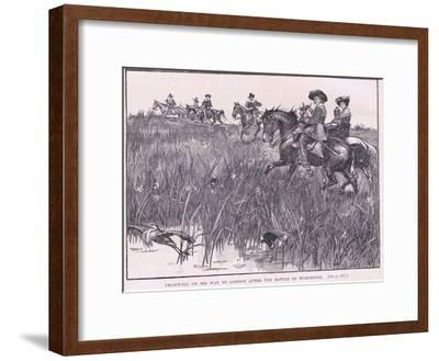 Cromwell on His Way to London after the Battle of Worcester Ad 1651-Walter Stanley Paget-Framed Giclee Print