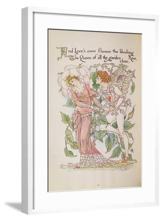 The Rose from 'Flora's Feast'-Walter Crane-Framed Giclee Print