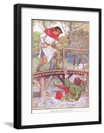 Robin Hood and Little John, C.1920-Walter Crane-Framed Giclee Print