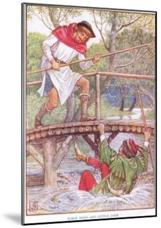 Robin Hood and Little John, C.1920-Walter Crane-Mounted Giclee Print