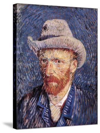 Self Portrait with Felt Hat, 1887-88-Vincent van Gogh-Stretched Canvas Print