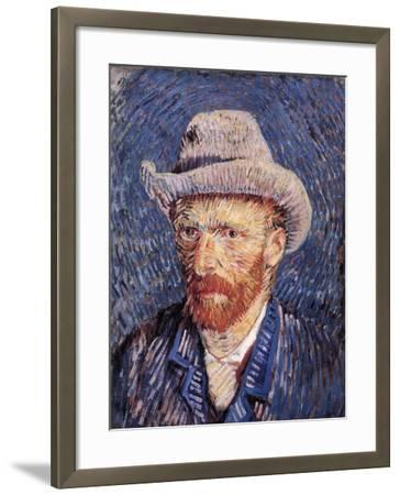 Self Portrait with Felt Hat, 1887-88-Vincent van Gogh-Framed Giclee Print