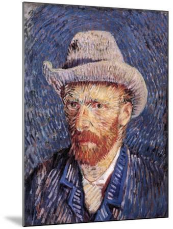 Self Portrait with Felt Hat, 1887-88-Vincent van Gogh-Mounted Giclee Print