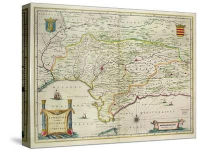 Map of Andalusia, Spain, 1634-Willem Blaeu-Stretched Canvas Print