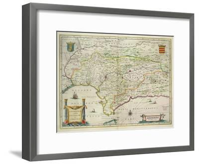 Map of Andalusia, Spain, 1634-Willem Blaeu-Framed Giclee Print