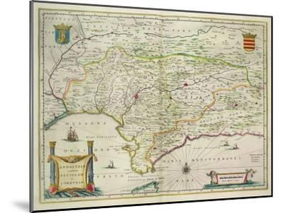 Map of Andalusia, Spain, 1634-Willem Blaeu-Mounted Giclee Print