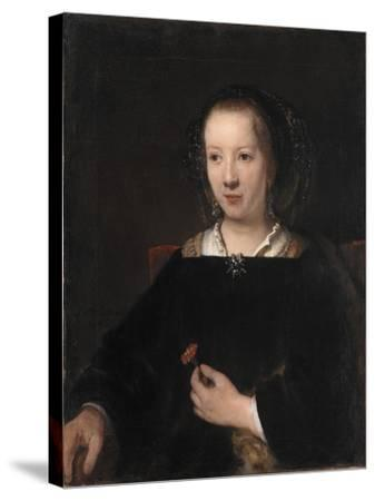 Young Woman with a Carnation, 1656-Willem Drost-Stretched Canvas Print