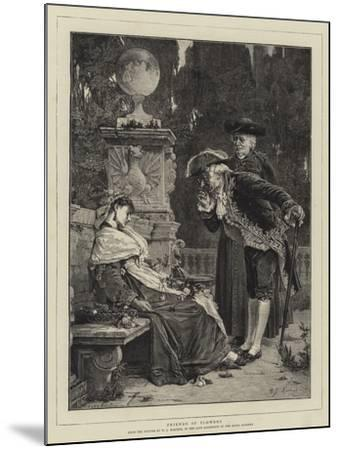 Friends of Flowers-Willem Johannes Martens-Mounted Giclee Print