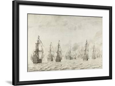 The Battle of Dunkirk, 1659-Willem van de Bettes the Younger-Framed Giclee Print