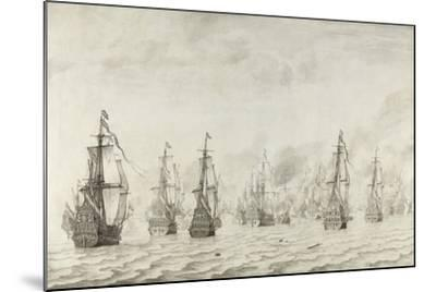 The Battle of Dunkirk, 1659-Willem van de Bettes the Younger-Mounted Giclee Print