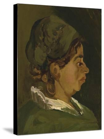 Head of a Peasant Woman: Right Profile, 1884-Vincent van Gogh-Stretched Canvas Print