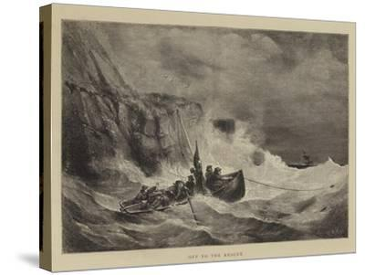 Off to the Rescue-Walter William May-Stretched Canvas Print