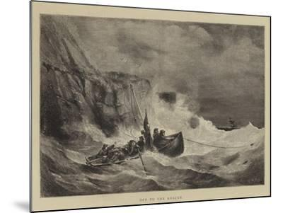 Off to the Rescue-Walter William May-Mounted Giclee Print