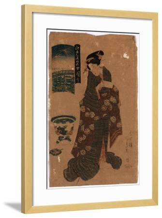 Ryogoku No Hanabi-Utagawa Toyokuni-Framed Giclee Print